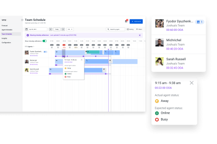 Automated, skills-based scheduling.